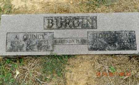 BURGIN, ARTHUR QUINCY - Pulaski County, Arkansas | ARTHUR QUINCY BURGIN - Arkansas Gravestone Photos