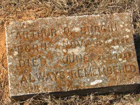 BURGIN, ARTHUR Q. - Pulaski County, Arkansas | ARTHUR Q. BURGIN - Arkansas Gravestone Photos