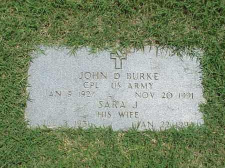 BURKE (VETERAN), JOHN D - Pulaski County, Arkansas | JOHN D BURKE (VETERAN) - Arkansas Gravestone Photos