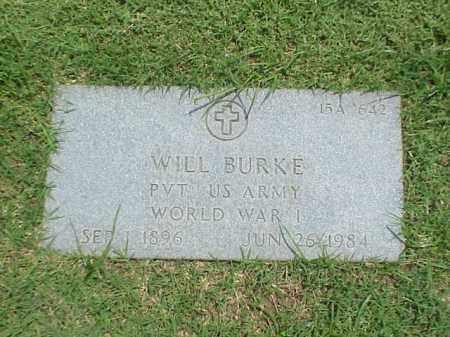 BURKE (VETERAN WWI), WILL - Pulaski County, Arkansas | WILL BURKE (VETERAN WWI) - Arkansas Gravestone Photos