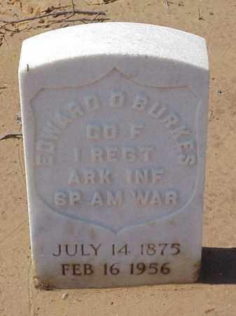 BURKES  (VETERAN SAW), EDWARD D - Pulaski County, Arkansas   EDWARD D BURKES  (VETERAN SAW) - Arkansas Gravestone Photos