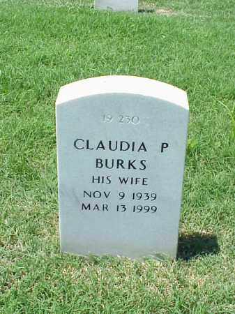 BURKS, CLAUDIA P - Pulaski County, Arkansas | CLAUDIA P BURKS - Arkansas Gravestone Photos