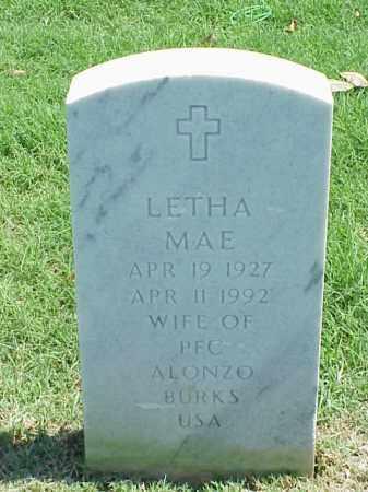 BURKS, LETHA MAE - Pulaski County, Arkansas | LETHA MAE BURKS - Arkansas Gravestone Photos