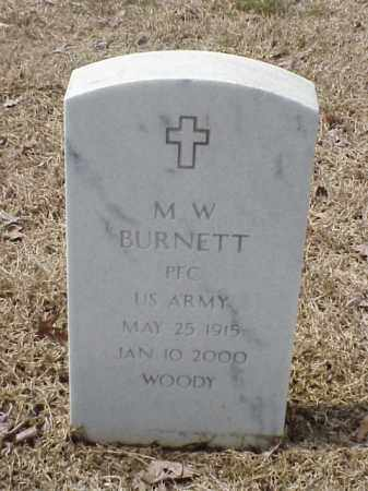 BURNETT  (VETERAN), M W - Pulaski County, Arkansas   M W BURNETT  (VETERAN) - Arkansas Gravestone Photos