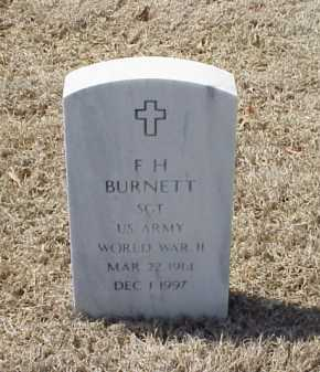 BURNETT (VETERAN WWII), F H - Pulaski County, Arkansas | F H BURNETT (VETERAN WWII) - Arkansas Gravestone Photos