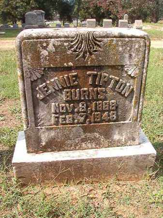 BURNS, JENNIE - Pulaski County, Arkansas | JENNIE BURNS - Arkansas Gravestone Photos