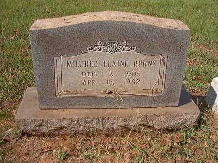 BURNS, MILDRED ELAINE - Pulaski County, Arkansas | MILDRED ELAINE BURNS - Arkansas Gravestone Photos
