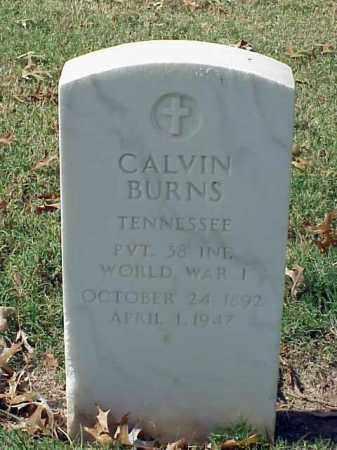 BURNS (VETERAN WWI), CALVIN - Pulaski County, Arkansas   CALVIN BURNS (VETERAN WWI) - Arkansas Gravestone Photos