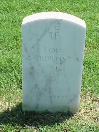 BURNS (VETERAN WWI), TOM - Pulaski County, Arkansas | TOM BURNS (VETERAN WWI) - Arkansas Gravestone Photos