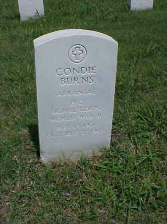 BURNS (VETERAN WWII), CONDIE - Pulaski County, Arkansas | CONDIE BURNS (VETERAN WWII) - Arkansas Gravestone Photos