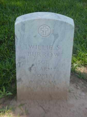 BURROW (VETERAN 2 WARS), WILLIE S - Pulaski County, Arkansas | WILLIE S BURROW (VETERAN 2 WARS) - Arkansas Gravestone Photos