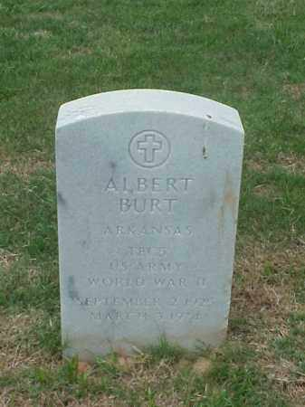 BURT (VETERAN WWII), ALBERT - Pulaski County, Arkansas   ALBERT BURT (VETERAN WWII) - Arkansas Gravestone Photos