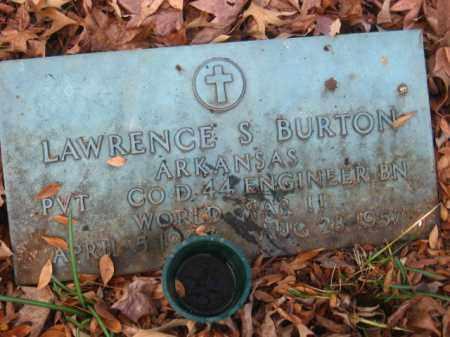 BURTON (VETERAN WWII), LAWRENCE S - Pulaski County, Arkansas | LAWRENCE S BURTON (VETERAN WWII) - Arkansas Gravestone Photos