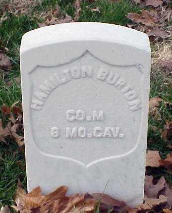 BURTON (VETERAN UNION), HAMILTON - Pulaski County, Arkansas | HAMILTON BURTON (VETERAN UNION) - Arkansas Gravestone Photos