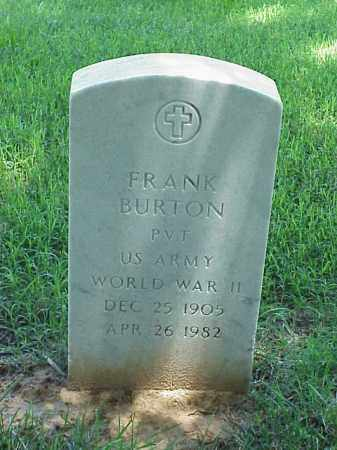 BURTON (VETERAN WWII), FRANK - Pulaski County, Arkansas   FRANK BURTON (VETERAN WWII) - Arkansas Gravestone Photos