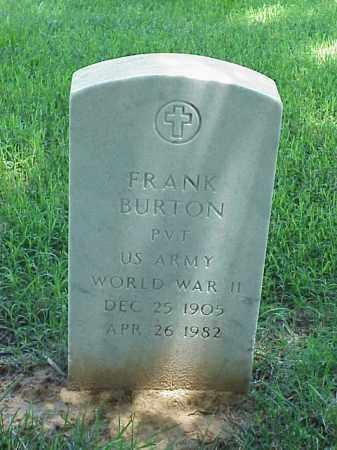 BURTON (VETERAN WWII), FRANK - Pulaski County, Arkansas | FRANK BURTON (VETERAN WWII) - Arkansas Gravestone Photos