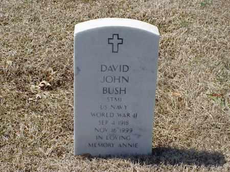 BUSH (VETERAN WWII), DAVID JOHN - Pulaski County, Arkansas | DAVID JOHN BUSH (VETERAN WWII) - Arkansas Gravestone Photos