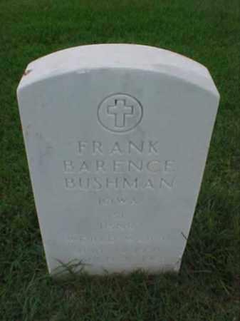BUSHMAN (VETERAN WWII), FRANK BARENCE - Pulaski County, Arkansas | FRANK BARENCE BUSHMAN (VETERAN WWII) - Arkansas Gravestone Photos