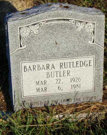 RUTLEDGE BUTLER, BARBARA - Pulaski County, Arkansas | BARBARA RUTLEDGE BUTLER - Arkansas Gravestone Photos