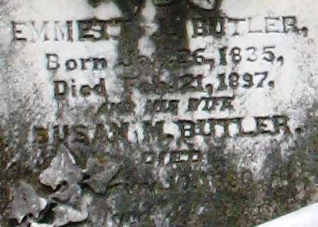 BUTLER, SUSAN M. (CLOSEUP) - Pulaski County, Arkansas | SUSAN M. (CLOSEUP) BUTLER - Arkansas Gravestone Photos