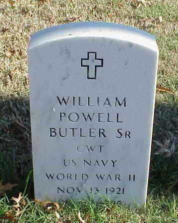 BUTLER, SR (VETERAN WWII), WILLIAM POWELL - Pulaski County, Arkansas | WILLIAM POWELL BUTLER, SR (VETERAN WWII) - Arkansas Gravestone Photos