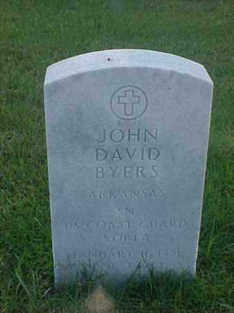BYERS (VETERAN KOR), JOHN DAVID - Pulaski County, Arkansas | JOHN DAVID BYERS (VETERAN KOR) - Arkansas Gravestone Photos