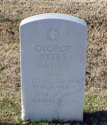 BYERS (VETERAN WWI), GEORGE - Pulaski County, Arkansas   GEORGE BYERS (VETERAN WWI) - Arkansas Gravestone Photos