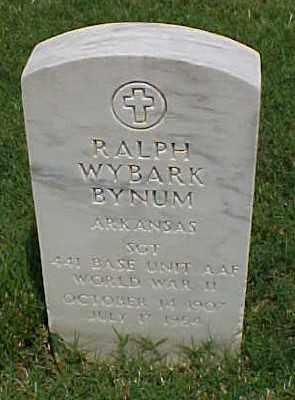 BYNUM (VETERAN WWII), RALPH WYBARK - Pulaski County, Arkansas   RALPH WYBARK BYNUM (VETERAN WWII) - Arkansas Gravestone Photos