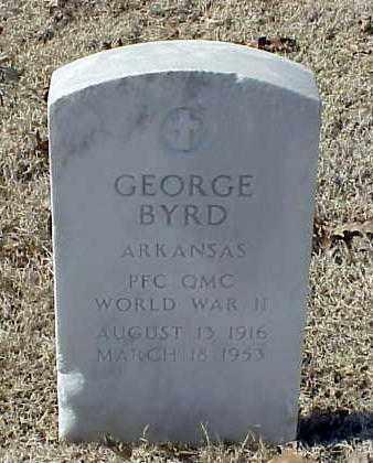 BYRD (VETERAN WWII), GEORGE - Pulaski County, Arkansas | GEORGE BYRD (VETERAN WWII) - Arkansas Gravestone Photos