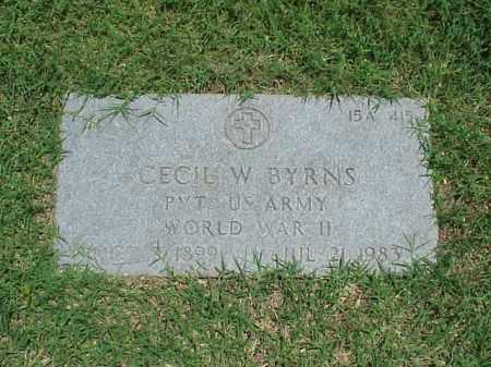 BYRNS (VETERAN WWII), CECIL W - Pulaski County, Arkansas | CECIL W BYRNS (VETERAN WWII) - Arkansas Gravestone Photos