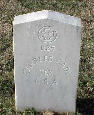 CADY (VETERAN CSA), CHARLES - Pulaski County, Arkansas   CHARLES CADY (VETERAN CSA) - Arkansas Gravestone Photos