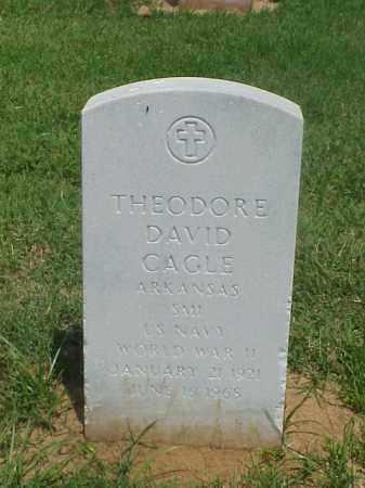 CAGLE (VETERAN WWII), THEODORE DAVID - Pulaski County, Arkansas | THEODORE DAVID CAGLE (VETERAN WWII) - Arkansas Gravestone Photos