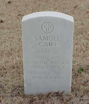 CAIN  (VETERAN WWI), SAMUEL - Pulaski County, Arkansas   SAMUEL CAIN  (VETERAN WWI) - Arkansas Gravestone Photos