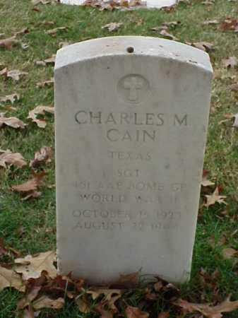 CAIN (VETERAN WWII), CHARLES M - Pulaski County, Arkansas   CHARLES M CAIN (VETERAN WWII) - Arkansas Gravestone Photos
