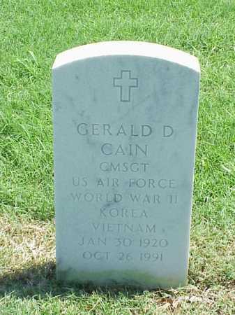 CAIN (VETERAN 3 WARS), GERALD D - Pulaski County, Arkansas | GERALD D CAIN (VETERAN 3 WARS) - Arkansas Gravestone Photos