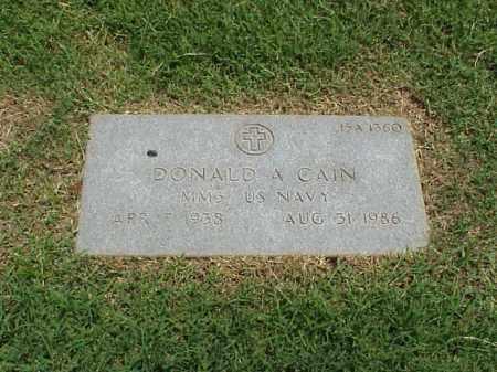 CAIN (VETERAN), DONALD ALBERT - Pulaski County, Arkansas   DONALD ALBERT CAIN (VETERAN) - Arkansas Gravestone Photos