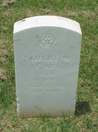 CAIN (VETERAN), ROBERT M - Pulaski County, Arkansas | ROBERT M CAIN (VETERAN) - Arkansas Gravestone Photos