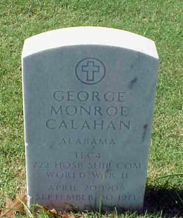 CALAHAN (VETERAN WWII), GEORGE MONROE - Pulaski County, Arkansas | GEORGE MONROE CALAHAN (VETERAN WWII) - Arkansas Gravestone Photos