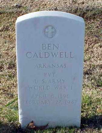 CALDWELL (VETERAN WWI), BEN - Pulaski County, Arkansas   BEN CALDWELL (VETERAN WWI) - Arkansas Gravestone Photos