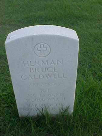 CALDWELL (VETERAN WWII), HERMAN BRUCE - Pulaski County, Arkansas | HERMAN BRUCE CALDWELL (VETERAN WWII) - Arkansas Gravestone Photos