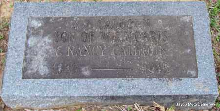 CALHOUN, Z T - Pulaski County, Arkansas | Z T CALHOUN - Arkansas Gravestone Photos