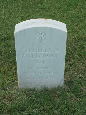 CALLOWAY (VETERAN WWI), CHARLES A - Pulaski County, Arkansas   CHARLES A CALLOWAY (VETERAN WWI) - Arkansas Gravestone Photos