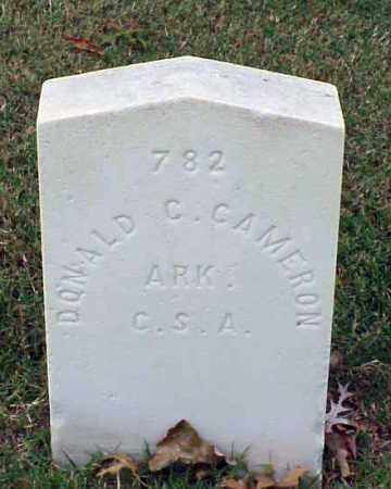 CAMERON (VETERAN CSA), DONALD C - Pulaski County, Arkansas | DONALD C CAMERON (VETERAN CSA) - Arkansas Gravestone Photos