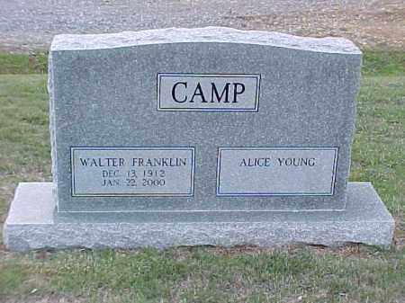 YOUNG CAMP, ALICE - Pulaski County, Arkansas | ALICE YOUNG CAMP - Arkansas Gravestone Photos