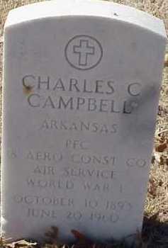 CAMPBELL (VETERAN WWI), CHARLES C - Pulaski County, Arkansas   CHARLES C CAMPBELL (VETERAN WWI) - Arkansas Gravestone Photos