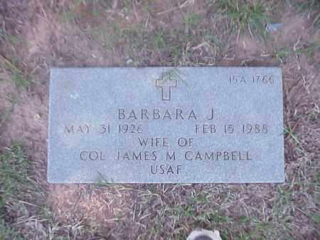 CAMPBELL, BARBARA J - Pulaski County, Arkansas   BARBARA J CAMPBELL - Arkansas Gravestone Photos