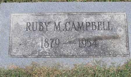 CAMPBELL, RUBY M - Pulaski County, Arkansas | RUBY M CAMPBELL - Arkansas Gravestone Photos