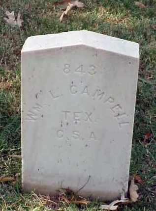 CAMPBELL (VETERAN CSA), WILLIAM L - Pulaski County, Arkansas   WILLIAM L CAMPBELL (VETERAN CSA) - Arkansas Gravestone Photos