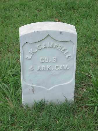 CAMPBELL (VETERAN UNION), R K - Pulaski County, Arkansas | R K CAMPBELL (VETERAN UNION) - Arkansas Gravestone Photos
