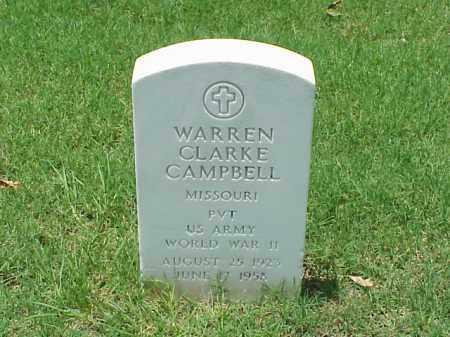 CAMPBELL (VETERAN WWII), WARREN CLARKE - Pulaski County, Arkansas | WARREN CLARKE CAMPBELL (VETERAN WWII) - Arkansas Gravestone Photos